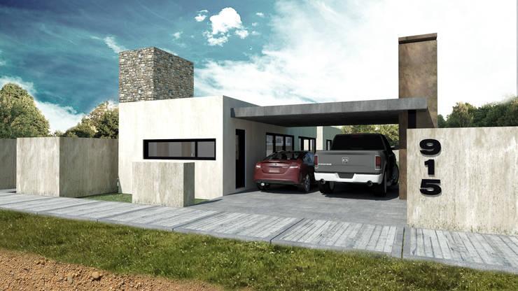 Vivienda Unifamiliar en Santa Rosa, La Pampa: Casas unifamiliares de estilo  por Structa Steel Framing