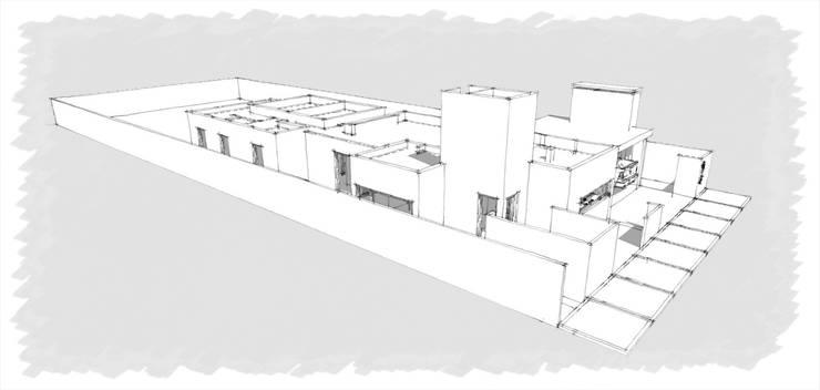 Vivienda Unifamiliar en Santa Rosa, La Pampa: Casas de estilo  por Structa Steel Framing