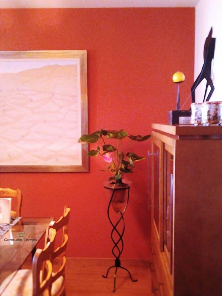 Salón comedor con la pintura y el arte como protagonistas de ...