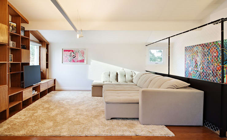 Salas / recibidores de estilo  por ODVO Arquitetura e Urbanismo
