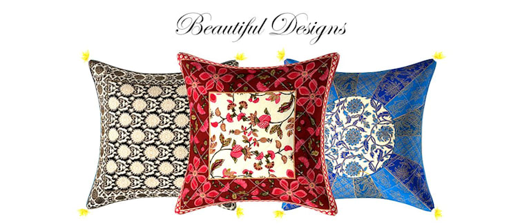 Cotton Cushion Cover: classic  by Jaipur Fabric,Classic Cotton Red