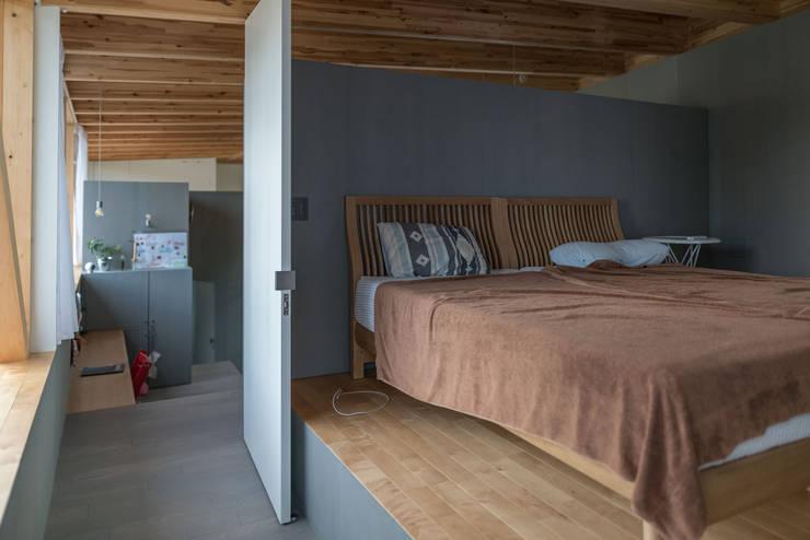 主寝室: 武藤圭太郎建築設計事務所が手掛けた寝室です。