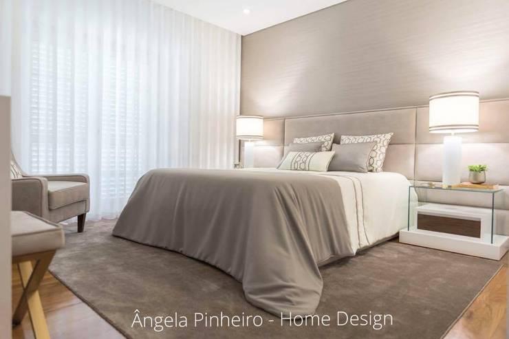 Quarto Elegante : Quartos  por Ângela Pinheiro Home Design