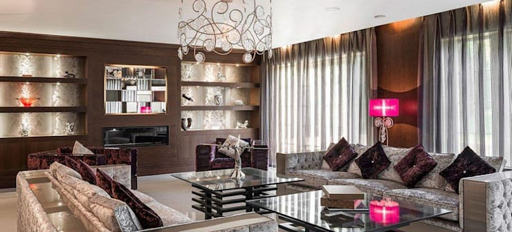 SERIP Chandeliers:  Living room by S. T. Unicom Pvt. Ltd.