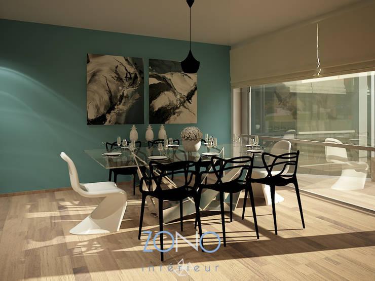 Comedores de estilo  por Zono Interieur