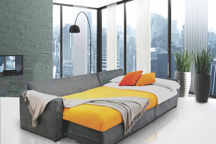 BELICE dark grey: Salas de estilo  por SOFAMEX Online