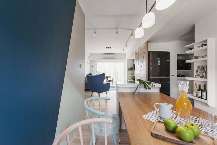 北歐20°:  餐廳 by 寓子設計