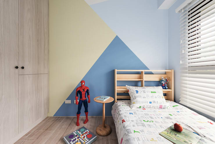 北歐20°:  臥室 by 寓子設計