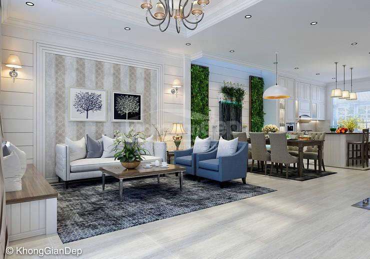 Phòng khách:  Phòng khách by Công ty cổ phần đầu tư xây dựng Không Gian Đẹp