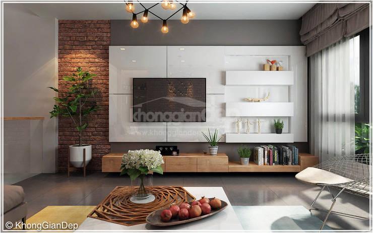 Phòng khách :  Phòng khách by Công ty cổ phần đầu tư xây dựng Không Gian Đẹp
