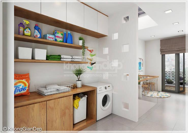 Phòng giặt :  Hành lang by Công ty cổ phần đầu tư xây dựng Không Gian Đẹp