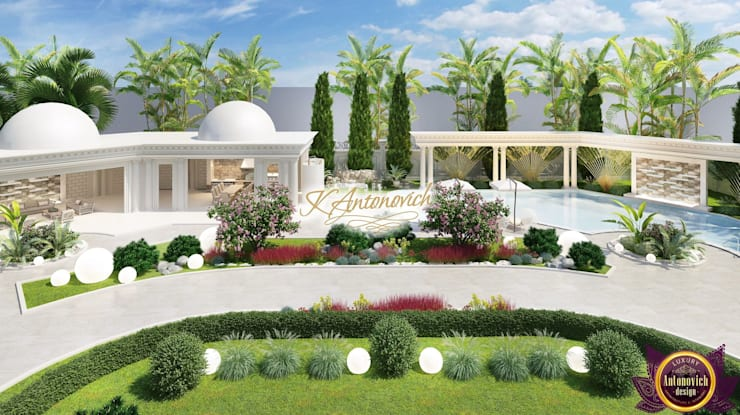 Garden Design by Katrina Antonovich:  Houses by Luxury Antonovich Design
