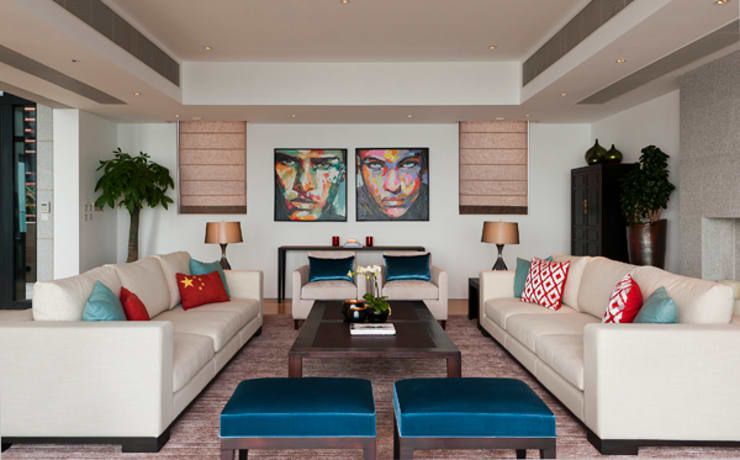 Living Area:  Living room by Nicole Cromwell Interior Design