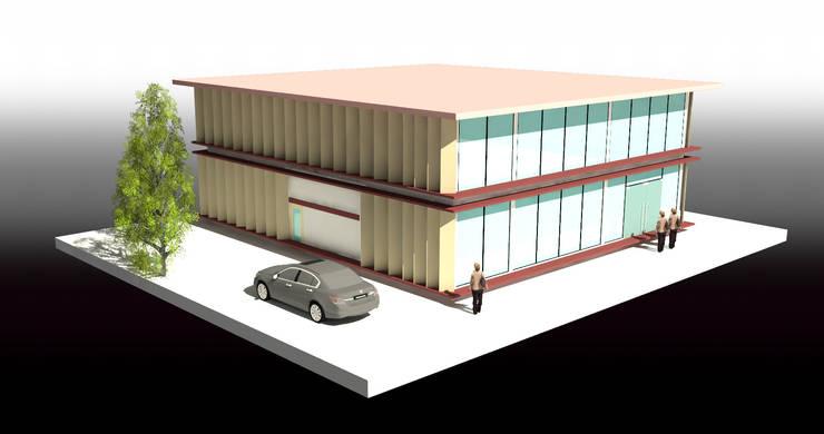 สำนักงาน 2 ชั้น -คลองขุด บางพลีใหญ่:  อาคารสำนักงาน by บริษัท โอเบ เอ็นจิเนียริ่ง จำกัด