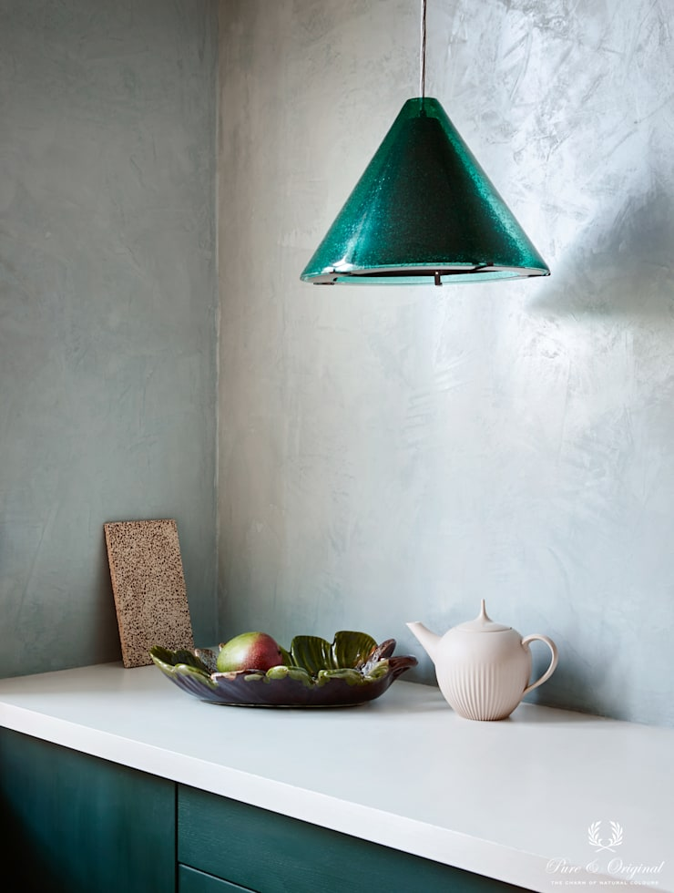 Keuken met Marrakech Walls in de kleur Polar Blue:  Keuken door Pure & Original, Modern