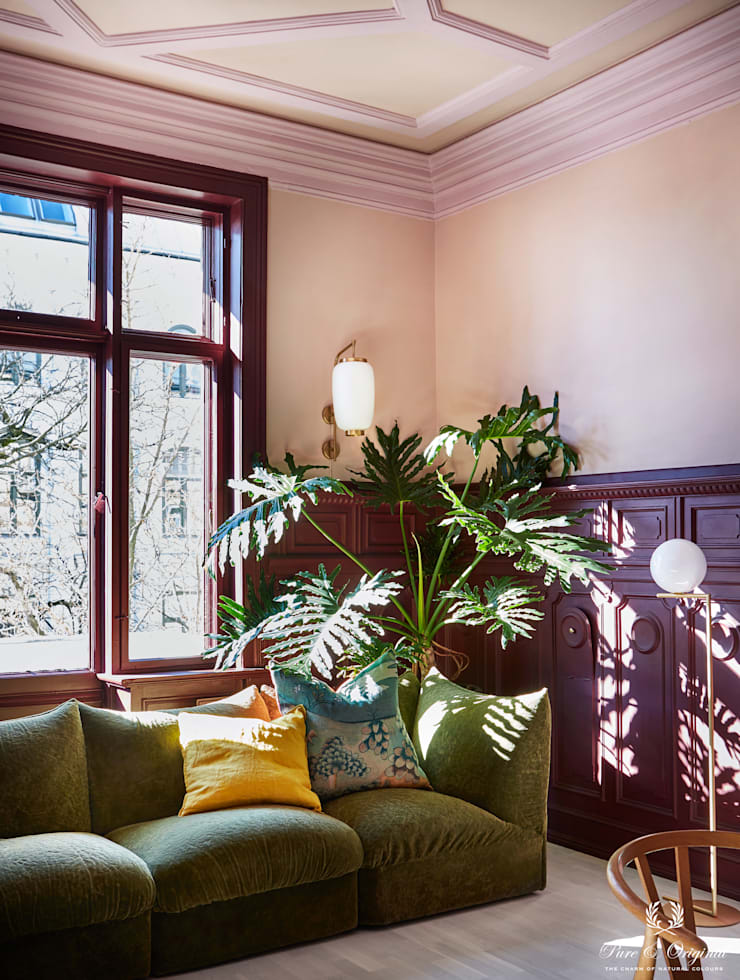 Salas / recibidores de estilo  por Pure & Original, Moderno