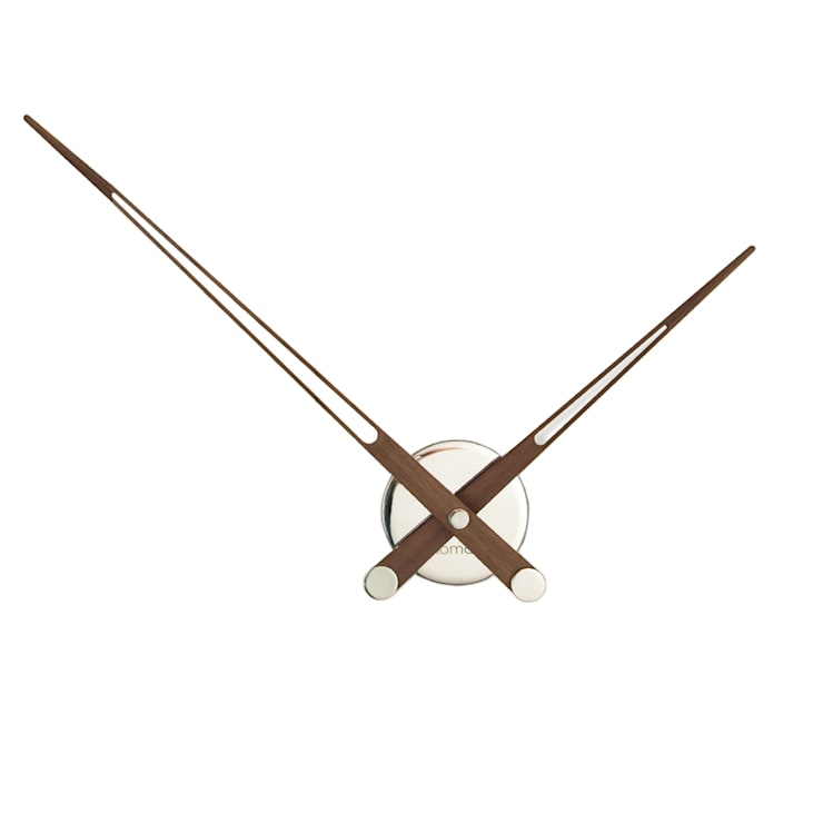 Nextime Axioma N - Walnut and Steel:  Living room by Just For Clocks