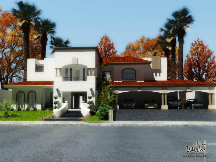 Fachada Principal: Casas unifamiliares de estilo  por gciEntorno