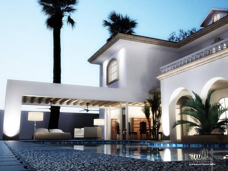 Alberca y Terraza: Casas de estilo ecléctico por gciEntorno