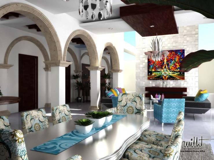 Comedor y Sala de estar: Comedores de estilo ecléctico por gciEntorno
