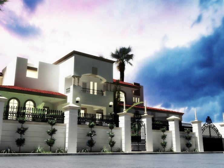 Fachada: Casas de estilo ecléctico por gciEntorno