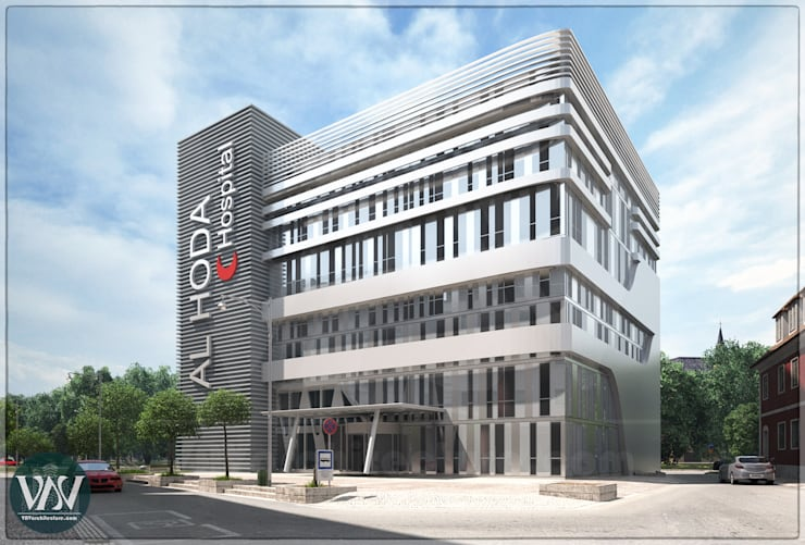 Hospital exterior design:  Hospitals by VAVarchitecture
