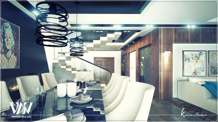Reception: modern Corridor, hallway & stairs by VAVarchitecture