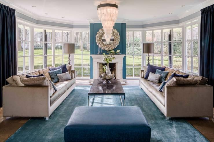 Villa, The Netherlands: modern Living room by S. T. Unicom Pvt. Ltd.