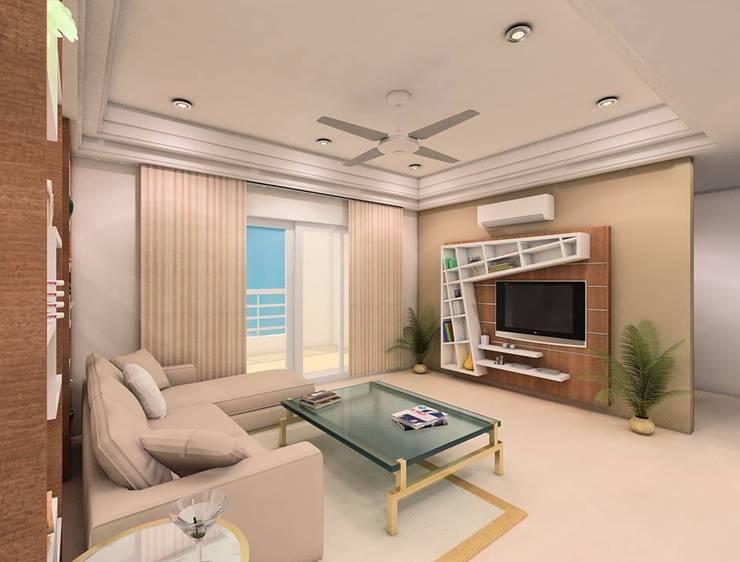 Interiors:  Living room by Avasa interiors