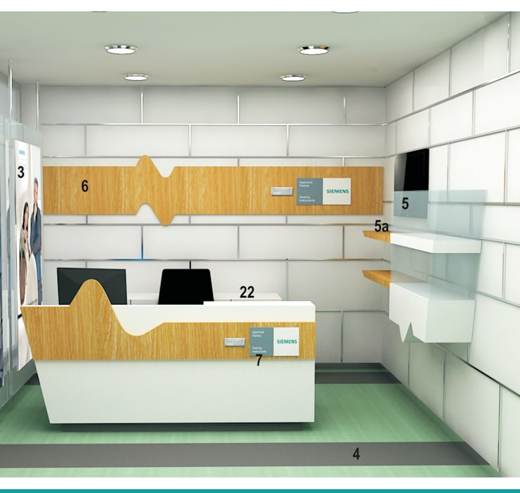 Hotel Golden Tree Faridabad:  Offices & stores by Incense interior exterior pvt Ltd.