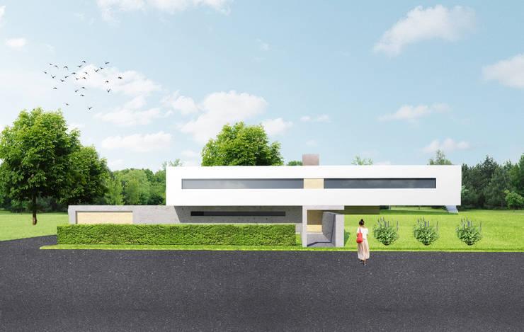 voorgevel:  Villa door Archstudio Architecten | Villa's en interieur, Modern