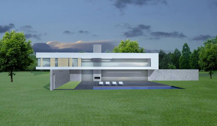achtergevel:  Villa door Archstudio Architecten | Villa's en interieur, Modern