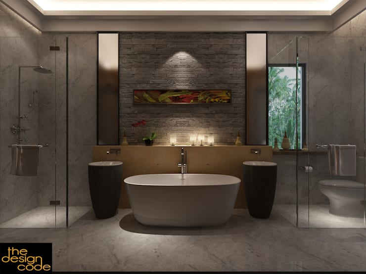 modern Bathroom by The Design Code