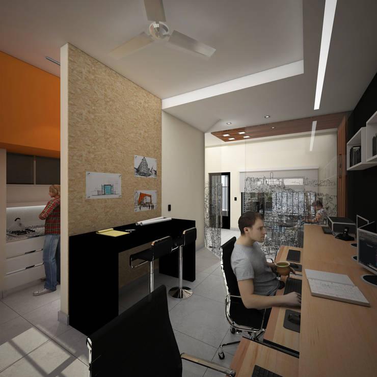 OFICINA DE ARQUITECTURA : Oficinas y Tiendas de estilo  por D'ODORICO OFICINA DE ARQUITECTURA