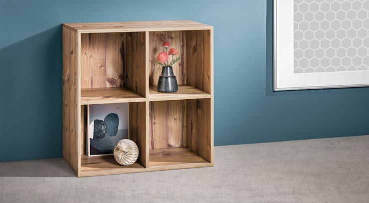 CLIC 2x2 Shelf Cube:  Living room by Regalraum UK