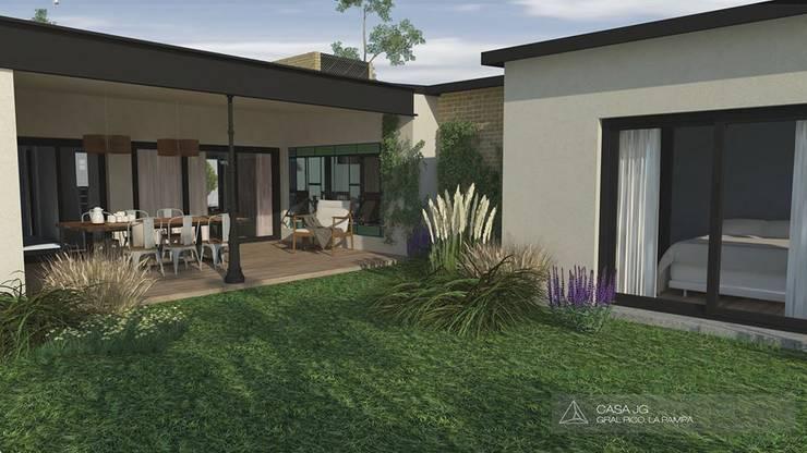 Casa JG : Casas unifamiliares de estilo  por Borio Arquitectura y Diseño,