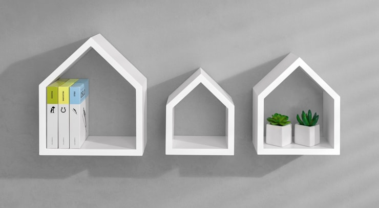 COTTAGE Wall Shelf Set:   by Regalraum UK