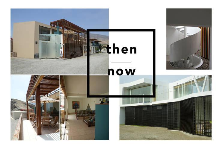 Antes & ahora / Then & now: Casas unifamiliares de estilo  por Lores STUDIO. arquitectos,