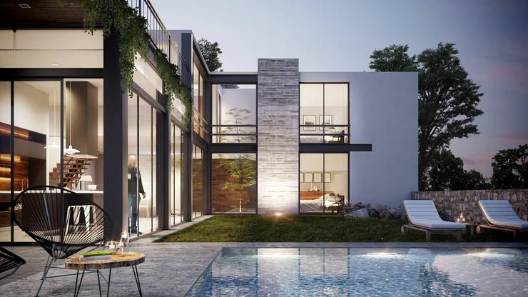 Fachada Interior: Casas de estilo minimalista por DELTA