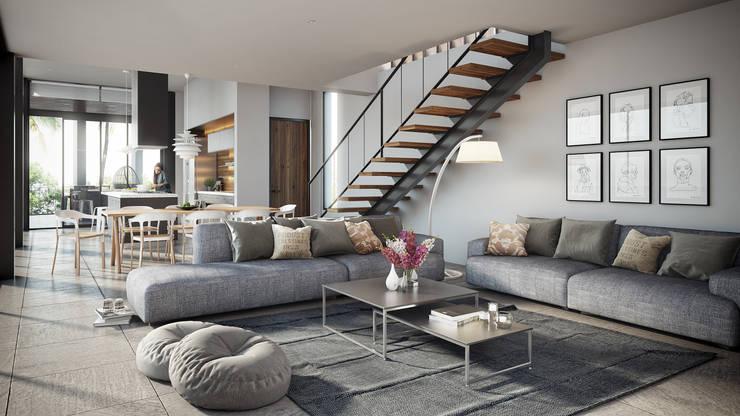 Salas / recibidores de estilo  por DELTA