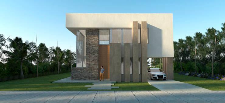 Vivienda La Plata: Casas de estilo  por IMAGENES MR,
