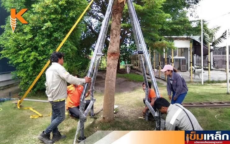 เข็มเหล็กฐานรากค้ำยันต้นไม้และที่นั่งเล่น กม.39:   by บริษัทเข็มเหล็ก จำกัด