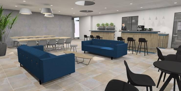 Bedrijfskantine:  Kantoor- & winkelruimten door AP-Interieurarchitect