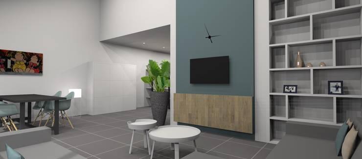Ontwerp herinrichting woonkamer:   door AP-Interieurarchitect