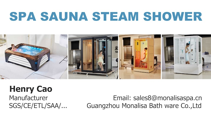 Spa de estilo  por SpaSaunaSteamShower,