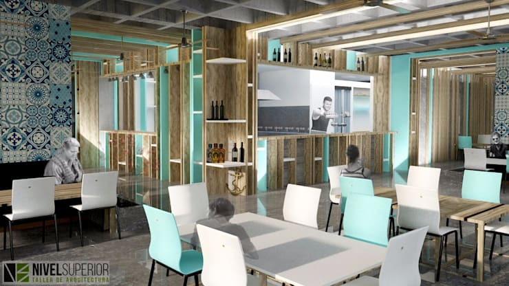 RESTAURANTE - HOTEL ENTREMARES : Comedores de estilo  por NIVEL SUPERIOR taller de arquitectura