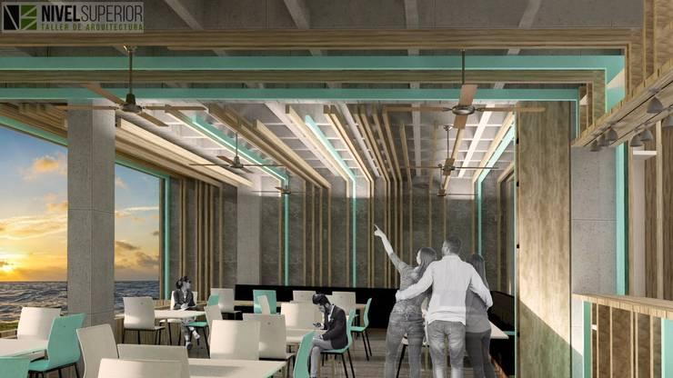 RESTAURANTE – HOTEL ENTREMARES : Comedores de estilo  por NIVEL SUPERIOR taller de arquitectura