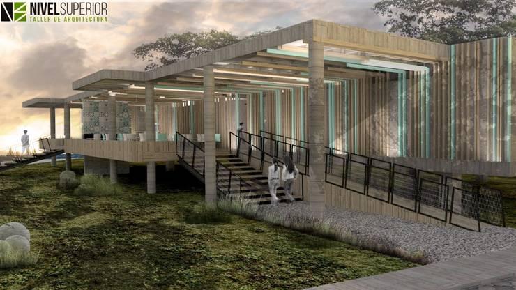 RESTAURANTE – HOTEL ENTREMARES : Casas de estilo  por NIVEL SUPERIOR taller de arquitectura