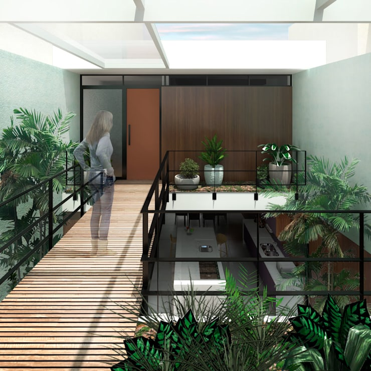 Hành lang by ODVO Arquitetura e Urbanismo