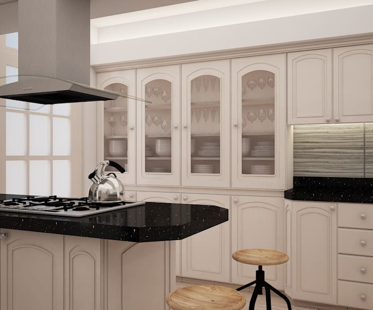 Kitchen units by Spacio5, Classic Wood Wood effect